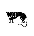 tiger black icon sign on isolated vector image