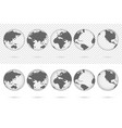 transparent earth globes from different sides vector image