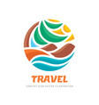travel - concept business logo template vector image vector image