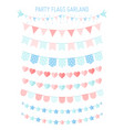 vintage bunting party flag vector image vector image