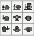 water pump icons set vector image vector image