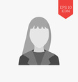 Woman avatar icon Flat design gray color symbol vector image vector image