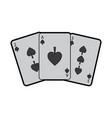 poker cards spade casino deck gambling design vector image