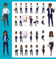 black african american business man and vector image