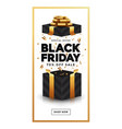black friday sale banner 4 vector image vector image