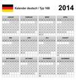 Calendar 2014 German Type 16 vector image vector image