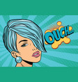 calm beautiful woman with short hair skeptical vector image vector image