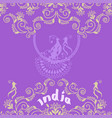 card with indian ornament vector image vector image