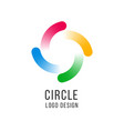 circle logo circled spiral swirl universal color vector image