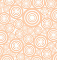 Circles Background Of Seamless Circles In Apricot vector image vector image