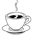 coffee cup line art vector image