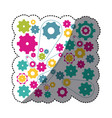 colorful gears symbols icon vector image