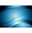 Dark shiny blue abstract waves design vector image vector image