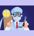 dental doctor operation view from patient vector image vector image