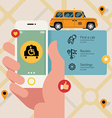 Disabled Taxi App vector image vector image