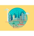 Dubai city building icon vector image