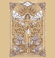 fantasy zodiac sign libra or scales vector image
