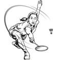 female badminton vector image vector image