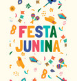 festa jununa background card eps10 vector image
