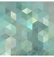 Geometric retro background with grunge texture vector image vector image