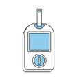 glucometer healthcare icon image vector image