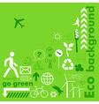 Go green card vector image