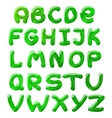 green blots alphabet vector image vector image