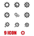 grey tools in gear icon set vector image vector image