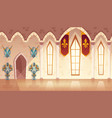 hall in medieval castle royal ballroom vector image vector image