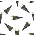 hand drawn pennants seamless pattern with vector image vector image