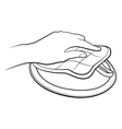 Hand outline vector image vector image