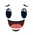 happy emoji kawaii character vector image