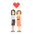 Happy gay LGBT women pair in love vector image vector image