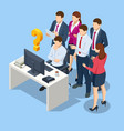 isometric business corporate management planning vector image