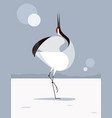 japanese crane love dance vector image vector image