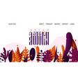 landing page - hello autumn for school autumn vector image