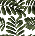 leaf pattern background2 vector image vector image