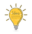Light Bulb Icon with Idea Concept vector image