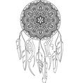 Line Art of a mandala dreamcatcher vector image