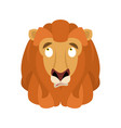 lion confused emoji face avatar wild animal is vector image vector image