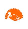 logo and symbol a turkey for thanksgiving vector image