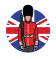 london foot guard vector image vector image