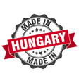made in hungary round seal vector image