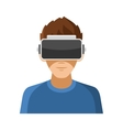 Man with Virtual Reality Headset Icon vector image vector image