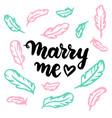 marry me postcard vector image