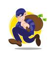 money thief vector image vector image