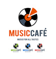 music cafe logo vector image vector image