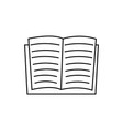 opened book reading icon vector image