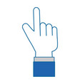 pointer hand index isolated icon vector image vector image