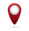 red empty navigation map pointer marker icon vector image vector image